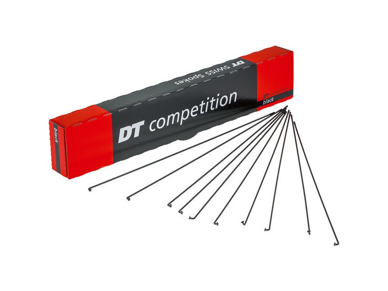 D T Swiss Competition black spokes 14 / 15 g = 2 / 1.8 mm Single Spoke click to zoom image